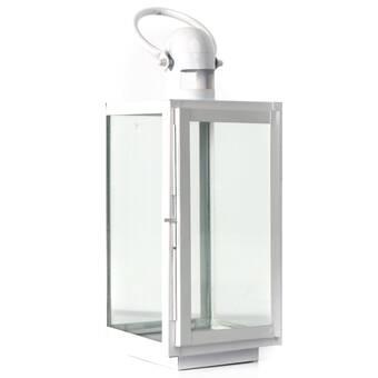 Gracie Oaks Square Glass And Metal Lantern Wayfair