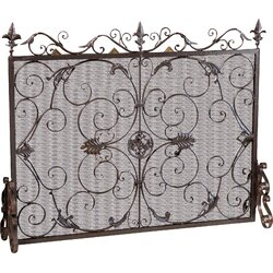 Iron Fireplace Screens home loft concepts laurentia panel iron fireplace screen & reviews