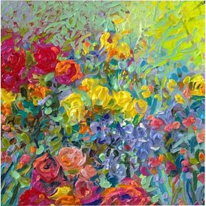 Iris Scott - 'Clay Flowers' Painting Print on Canvas by East Urban Home