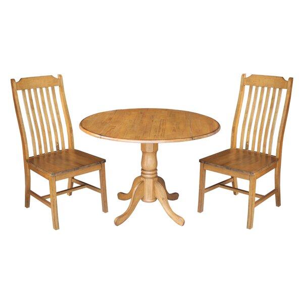 Tippecanoe 3 Piece Dining Set by Loon Peak