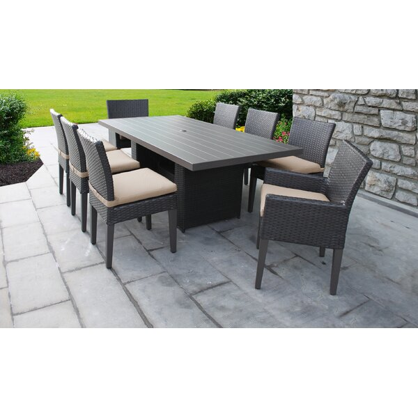 Tegan 9 Piece Dining Set with Cushions by Sol 72 Outdoor