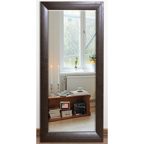South Perth Leather Beveled Wall Mirror by Darby Home Co