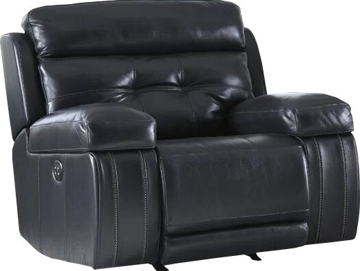 Sagamore Leather Power Rocker Recliner by Red Barrel Studio