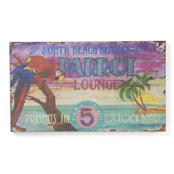 Parrot Lounge Vintage Advertisement Plaque by Bay Isle Home
