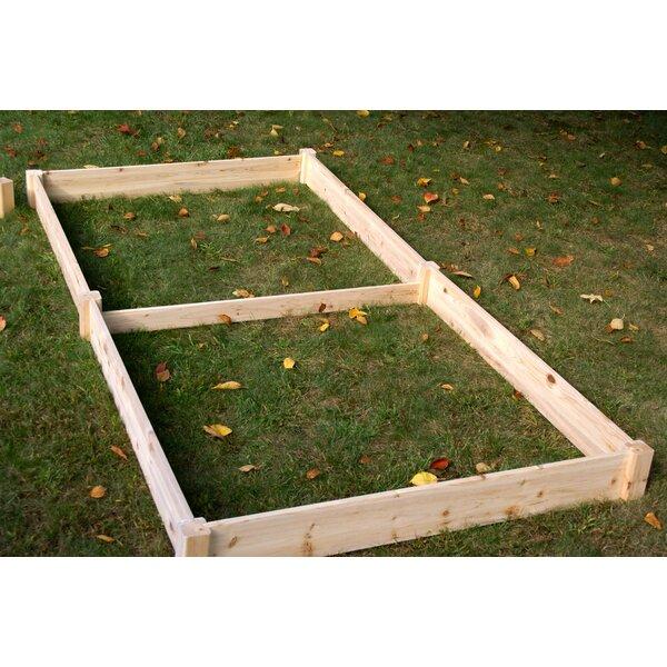 Konkol 4 ft x 8 ft Wood Raised Garden by August Grove