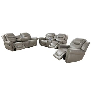 Papa 3 Piece Faux Leather Reclining Living Room Set by Red Barrel Studio®