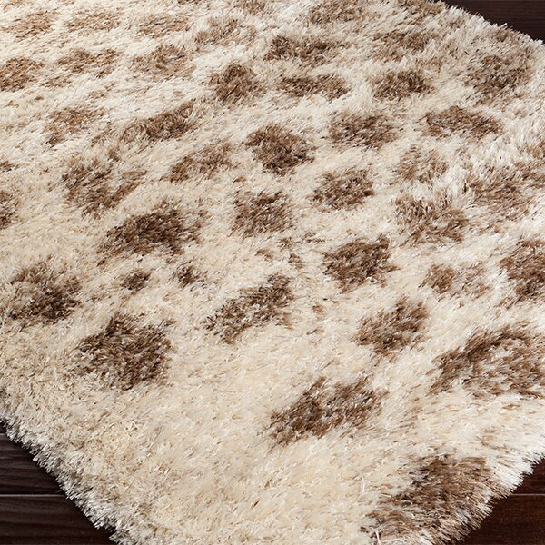 Sina Hand Woven Ivory/Brown Area Rug by Bungalow Rose