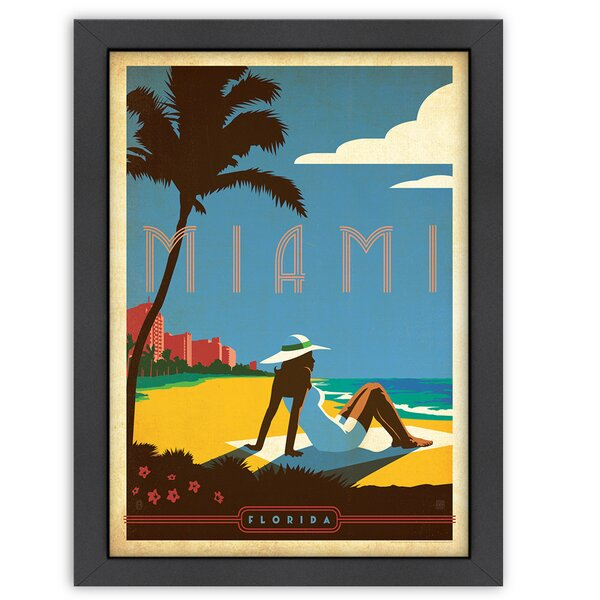 Miami Framed Vintage Advertisement by East Urban Home
