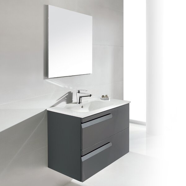 Vitale 24 Single Bathroom Vanity Set with Mirror by Dawn USA