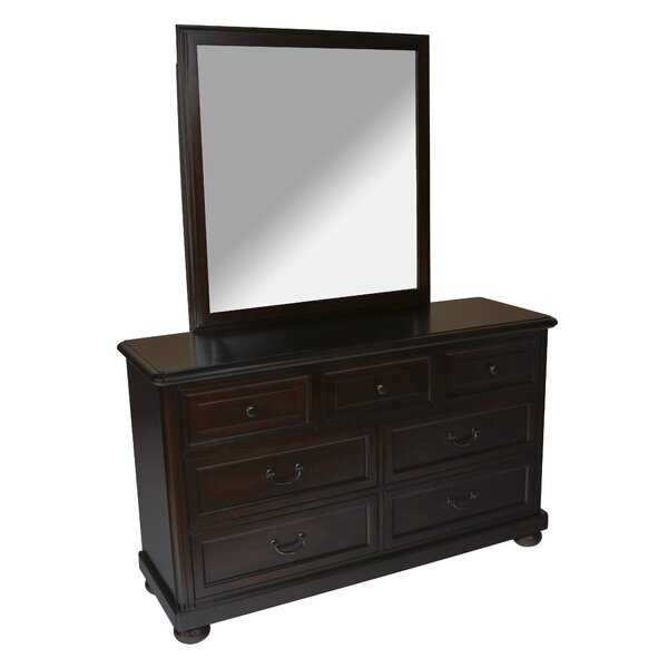 Scannell 7 Drawer Double Dresser with Mirror by Harriet Bee