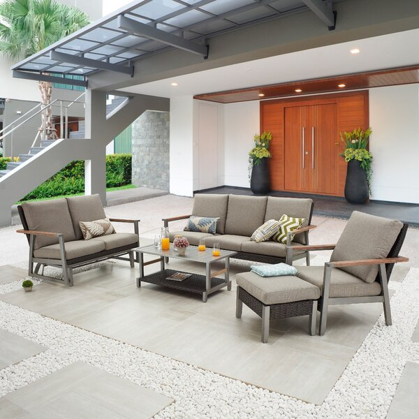 Sabahat 5 Piece Sofa Seating Group with Cushions by Latitude Run
