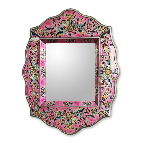 Margolis Peru Floral Wall Mirror by Bloomsbury Market