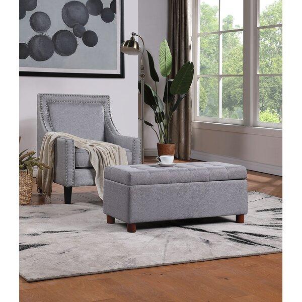 Abriya Upholstered Flip Top Storage Bench