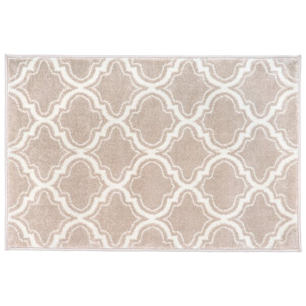 Strothers Design Beige Area Rug by Charlton Home