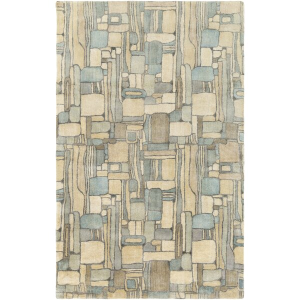Natural Affinity Hand-Tufted Yellow/Blue Area Rug by Shell Rummel