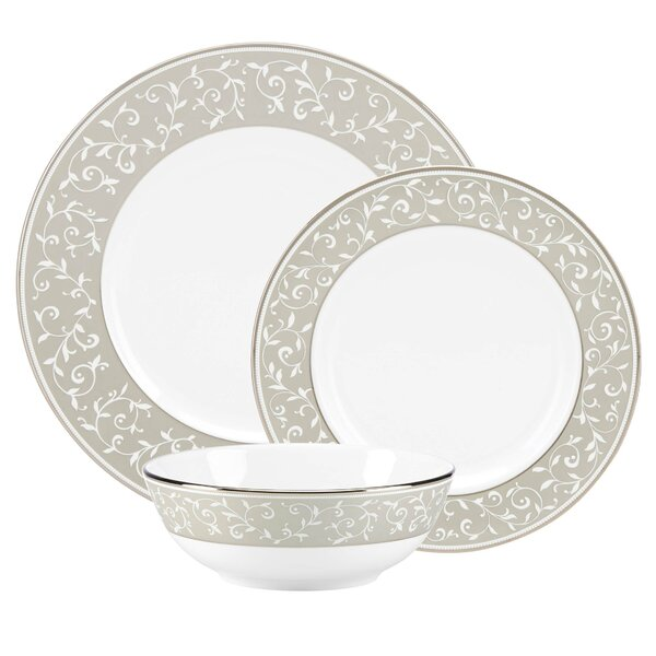 Innocence Bone China 3 Piece Place Setting, Service for 1 by Lenox