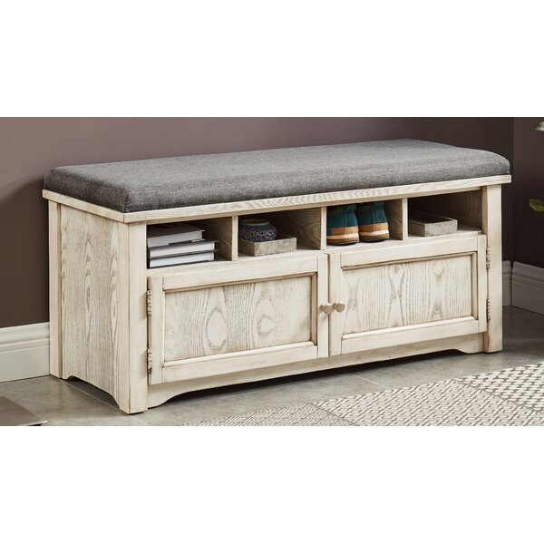 Rentschler Wood Storage Bench by Gracie Oaks