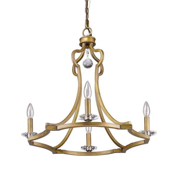 Lipsey 4-Light Candle Style Geometric Chandelier With Crystal Accents Accents By Astoria Grand