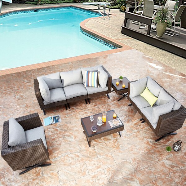 Rimersburg 8 Piece Sofa Seating Group with Cushions by Latitude Run
