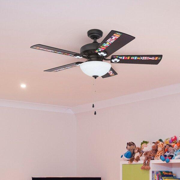 42 Golding Soccer 5 Blade LED Ceiling Fan by Zoomie Kids