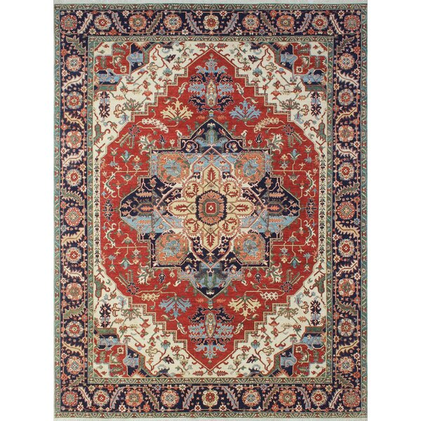 One-of-a-Kind Woodmoor Moursal Hand-Knotted Wool Rust Area Rug by Loon Peak