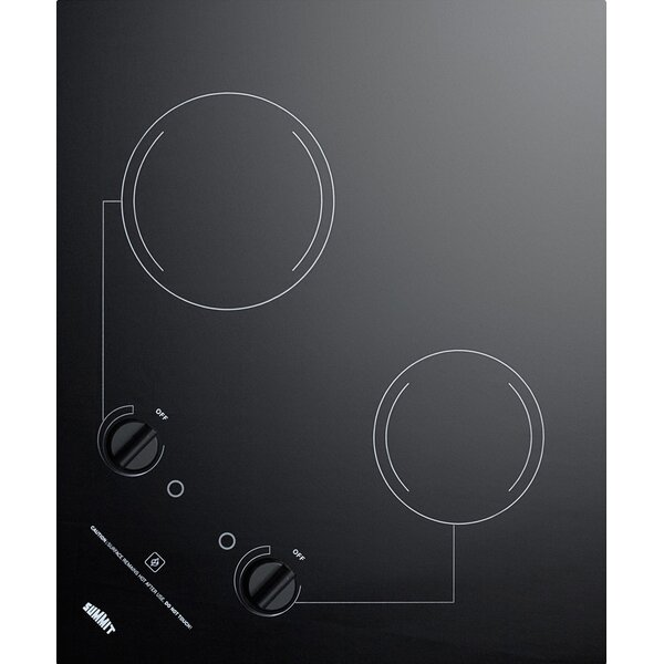 Summit 21 Electric Radiant Cooktop with 2 Burners by Summit Appliance