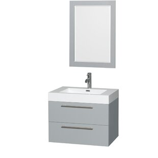 Inexpensive Amare 29 Single Bathroom Vanity Set with Mirror ByWyndham Collection