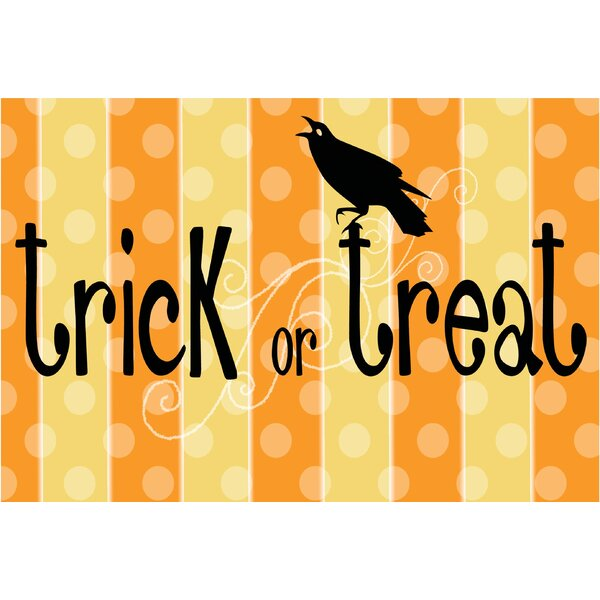 Trick or Treat Raven Doormat by The Holiday Aisle