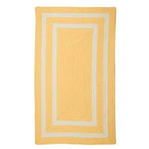 Marti Hand-Woven Outdoor Yellow Area Rug