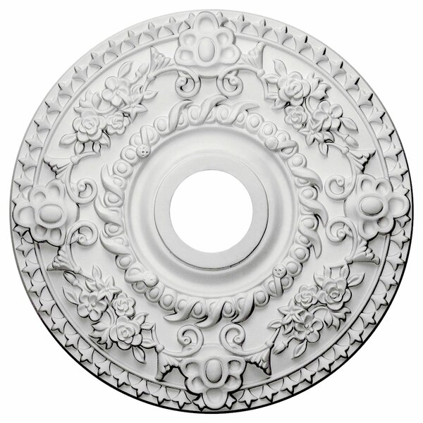 Rose 18H x 18W x 1 1/2D Ceiling Medallion by Ekena Millwork