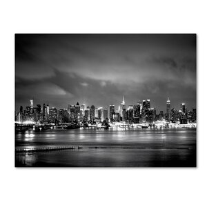 'New York Skyline' by Preston Photographic Print on Wrapped Canvas by Trademark Fine Art