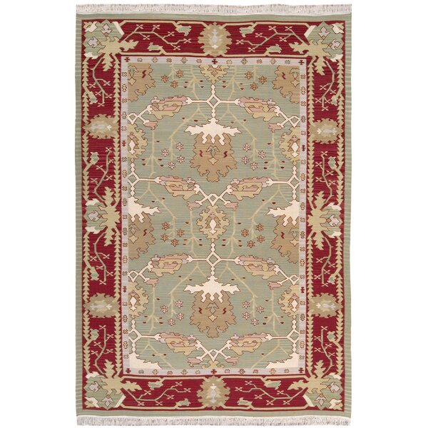 Kewanee Hand-Woven Olive Area Rug by Darby Home Co
