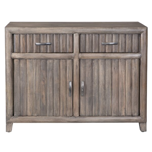 Bridges Mango Solid 2 Drawer 2 Door Accent Cabinet by Union Rustic