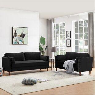 Lisette 2 Piece Velvet Living Room Set by George Oliver