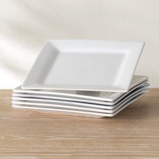 Wayfair Basics 11\  Square Dinner Plate (Set of 6) & White Square Plates Sets | Wayfair