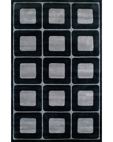 Modern Living Deco Blocks Black/Gray Rug by American Home Rug Co.