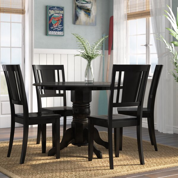 Langwater 5 Piece Solid Wood Dining Set By Beachcrest Home Wonderful
