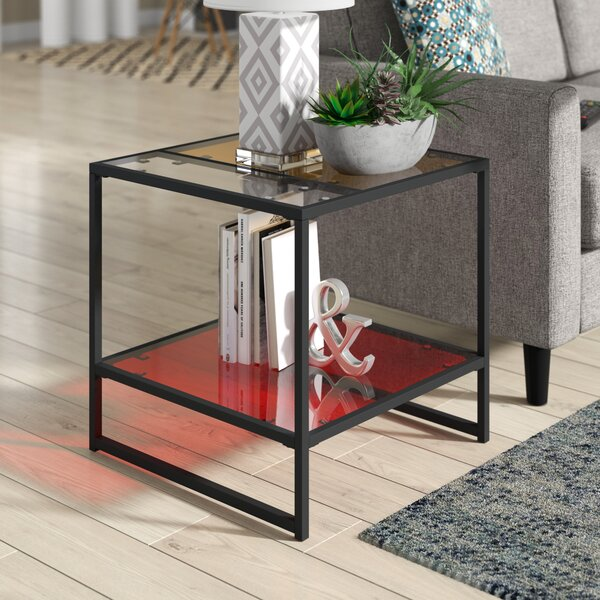 Leetsdale Contemporary End Table by Latitude Run