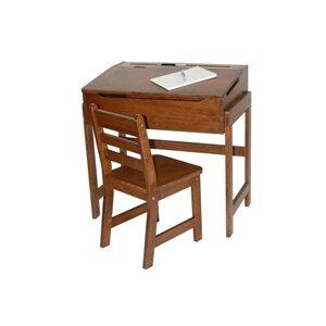 Alexa Kids' Desk and Chair Set in Walnut