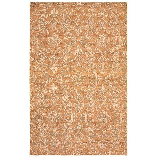 Devansh Hand-Tufted Wool Rust Area Rug by Bungalow Rose