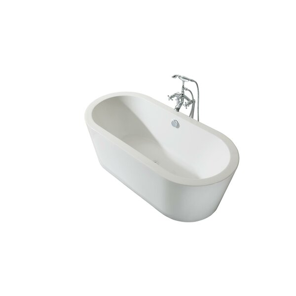 Charlotte Platinum Oval 67 x 31 Freestanding Soaking Bathtub by Ariel Bath