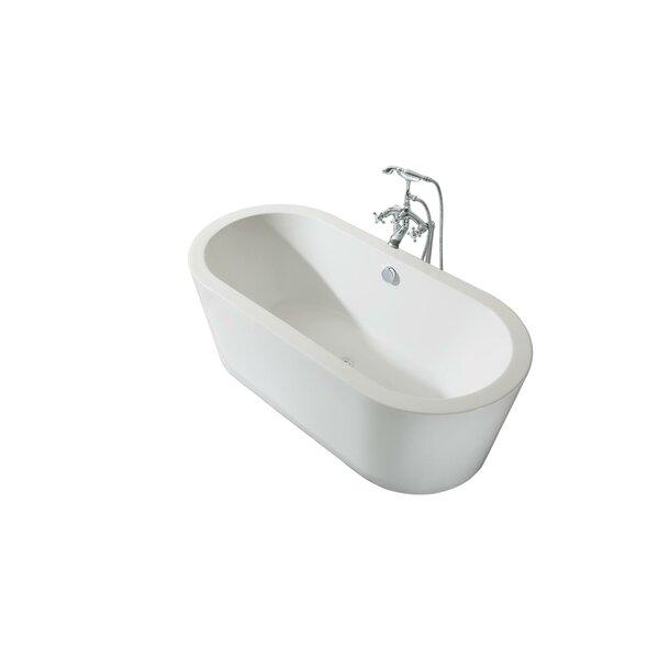Charlotte Platinum Oval 67 x 31 Freestanding Soaking Bathtub by Ariel Bath
