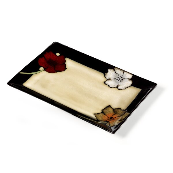Painted Poppies Rectangular Platter by Pfaltzgraff Everyday