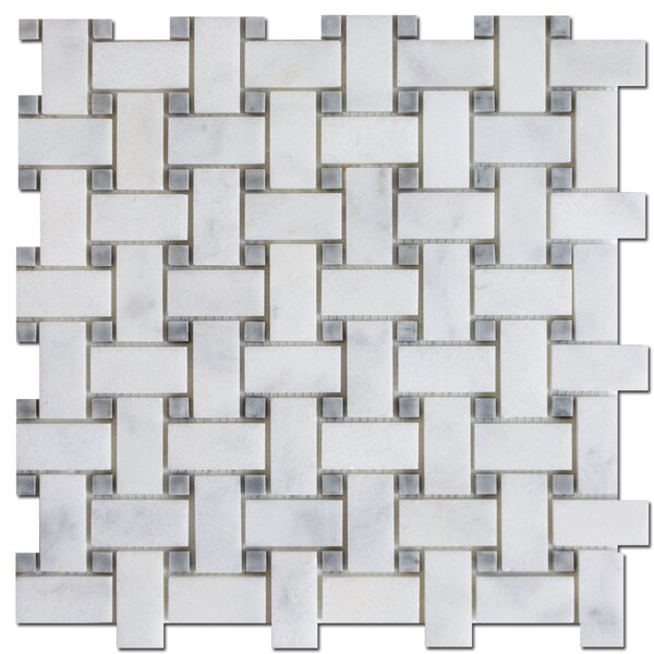 Basket Weave 1 x 2 Marble Mosaic Tile