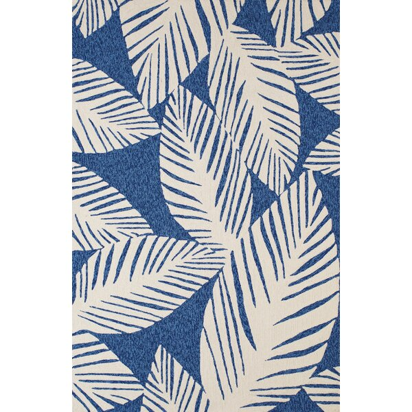Palm Coast Hand-Woven Blue Indoor/Outdoor Area Rug by Panama Jack Home