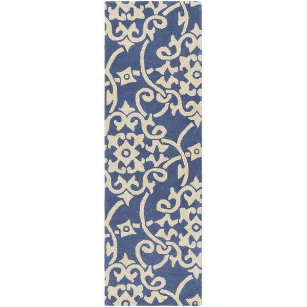 Millwood Hand-Tufted Violet/Butter Area Rug by Charlton Home
