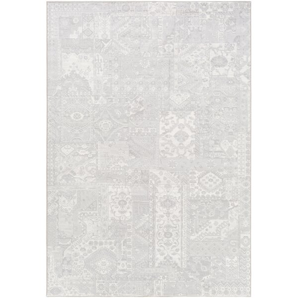 Pickrell Light Gray/White Area Rug by One Allium Way