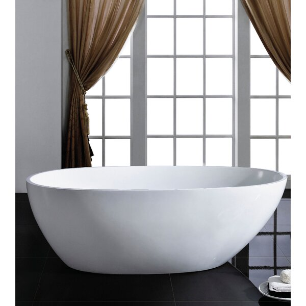 Sarah 34 x 67 Soaking Bathtub by Eviva