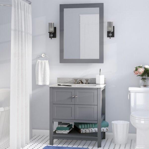Cline 30 Single Bathroom Vanity Set With Mirror by Three Posts