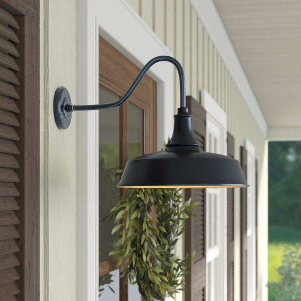 outdoor gooseneck barn light wayfair